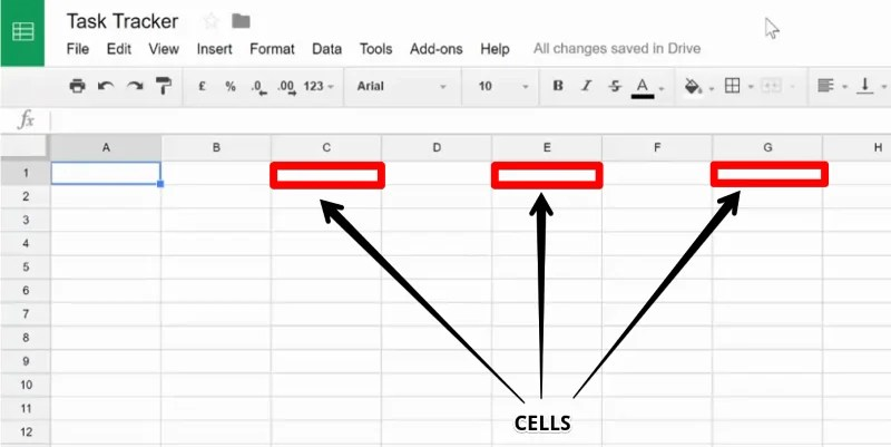 A Cell in Google Sheet