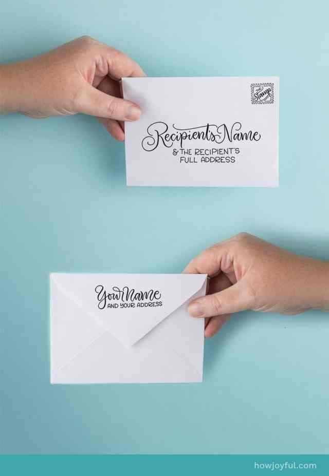 How to address an envelope correctly: Envelope etiquette + a FREEBIE