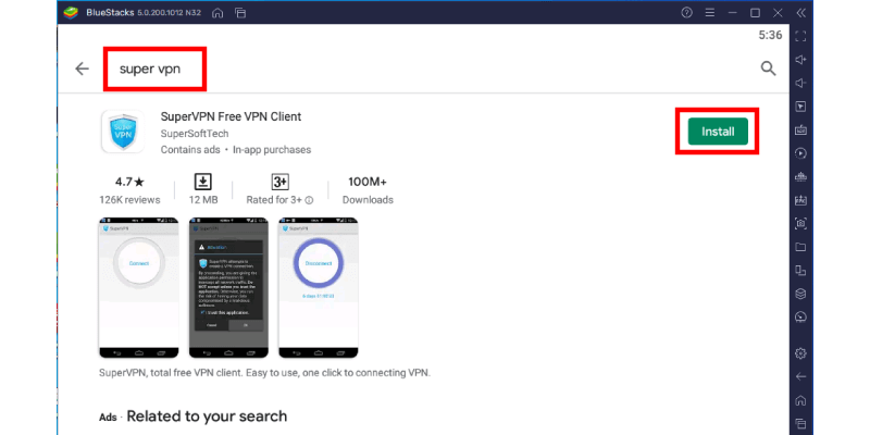 Google Playstore Search Supervpn
