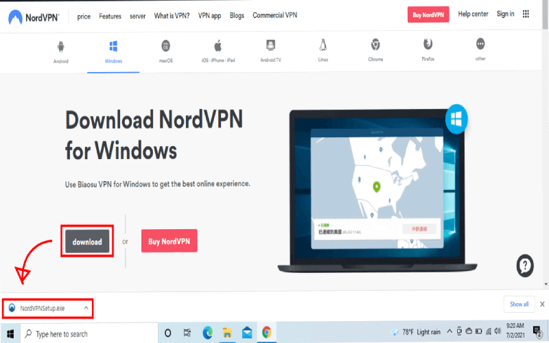 nordvpn download and install windows