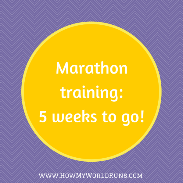 5 weeks marathon training