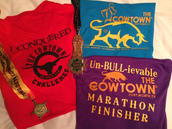 Cowtown 2014 shirts and medals
