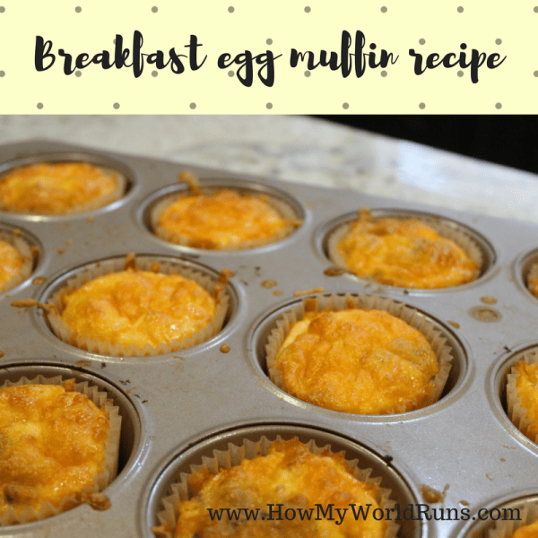 Breakfast egg muffin recipe