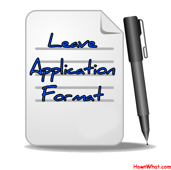Leave Application Letter format