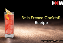 Anis Fresco Cocktail on wood table