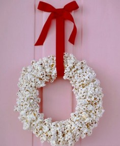 Bow with ribbon hanged on Door Knob for Christmas
