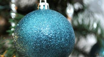 Blue Christmas Decoration Ornament