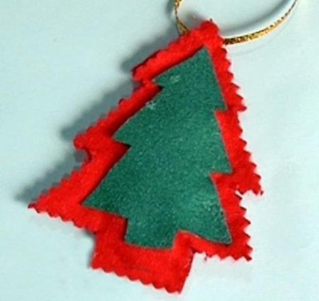 Green Red Christmas Felt Ornament