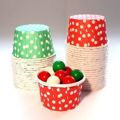 Christmas Candy Cups filled bunties