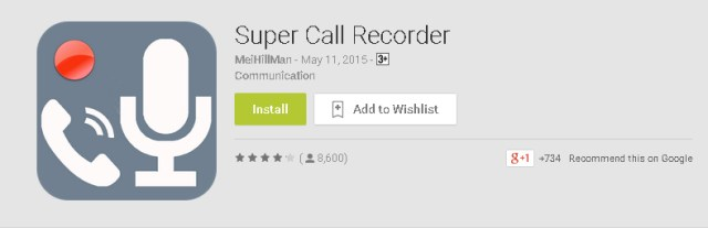 Super Call Recorder by MeiHillMan for Android Mobiles Phones