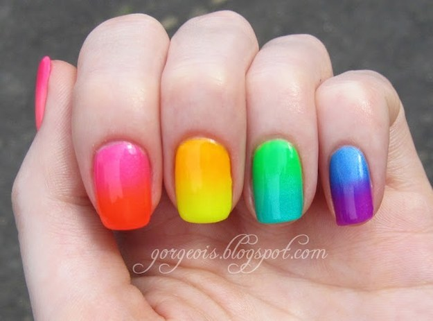 Ombre and fades Nailart