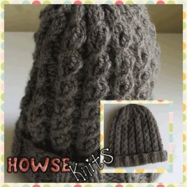Knitted Baby Hat (Cable)