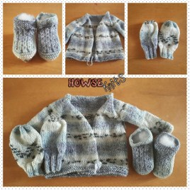 Baby Bundle – Cardigan, Mittens and Booties