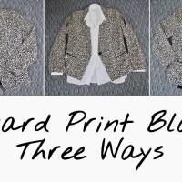 Styling A Leopard Blazer Three Ways