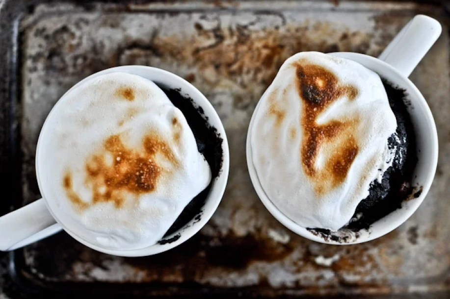 Chocolate Fudge S'mores Mug Cake by How Sweet It Is