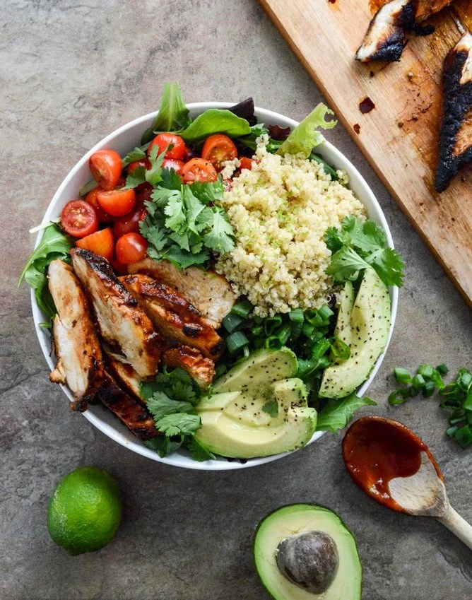 These are my top 45 favorite lunch ideas that make eating at work so much more delicious! These easy, mostly make-ahead and healthy lunch ideas are perfect to prep and plan for your week and a great way to stay on track for the new year. I howsweeteats.com #lunch #ideas