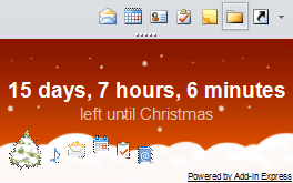 Countdown Till Christmas HowTo Outlook