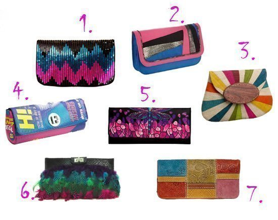 Shopping Time: Multi-Colored Clutches Under $50!