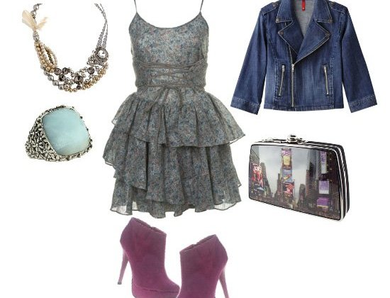 Lace and Denim, Flirty and Edgy in One Look  2