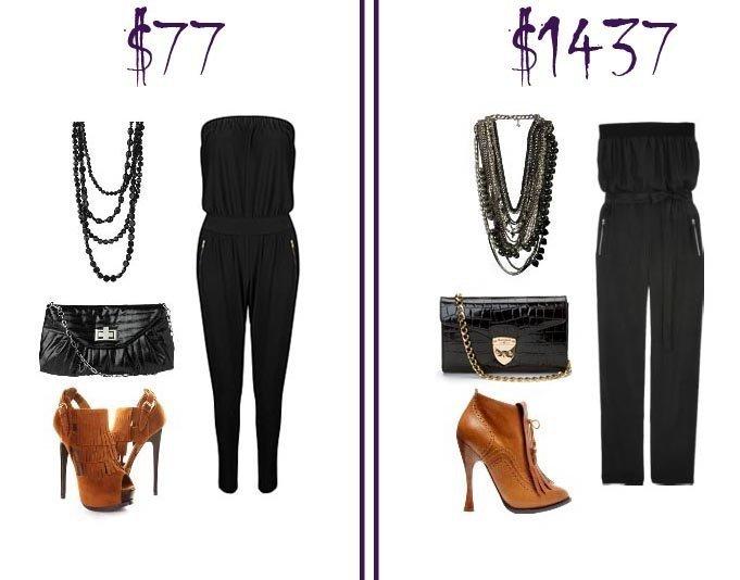 Black Jumpsuit Look – Low Budget VS Mega Budget