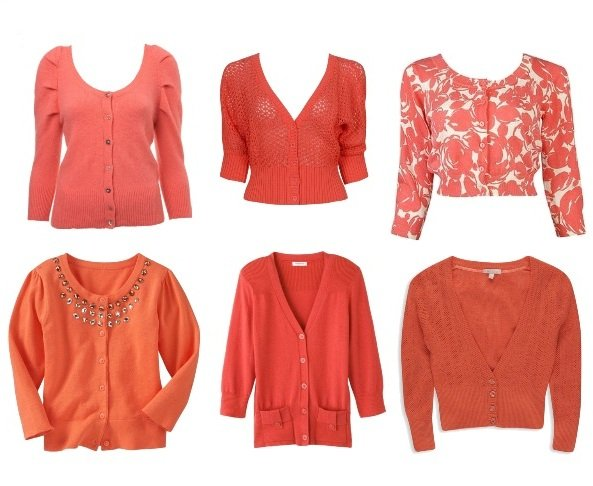 Shopping Time: Coral Cardigans and How to Wear Them