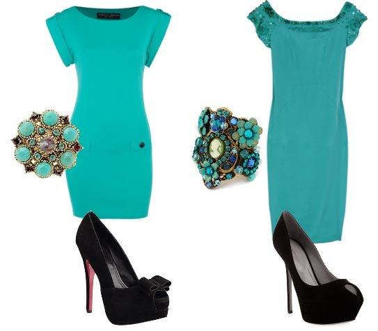 Turquoise Dress & Peep-Toes - Low Budget VS Mega Budget 1