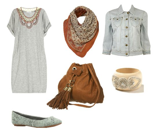 Daily Look - Casual Mix of Gray and Brown 1