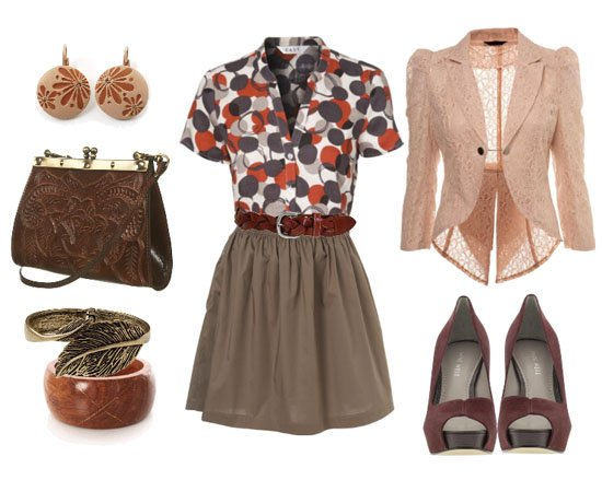 Go 'Granny Chic': Bubbles, Browns and Lace!