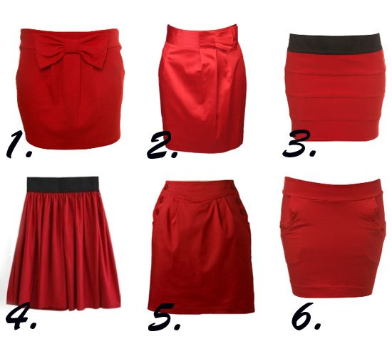 Shopping Time: Red Skirts Under $50! 1
