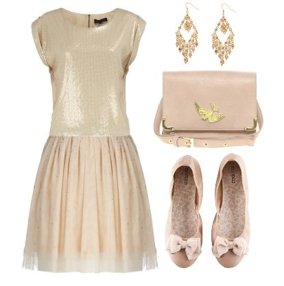 Daily Look Under $100: Beige and Pale Pink from Head to Toe