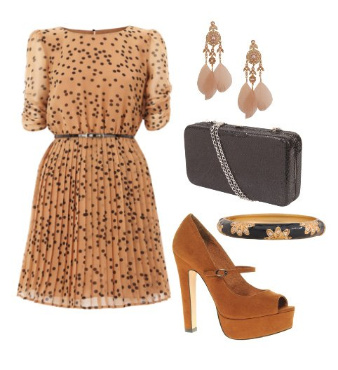 Daily Chic: Spotted Caramel Outfit for $100 12