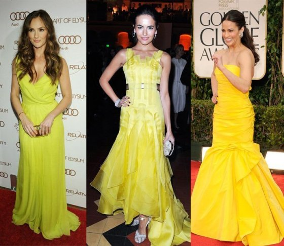 Celebrity Trends: Yellow Evening Dresses 8