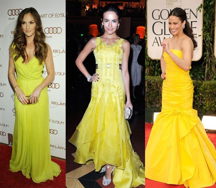 Celebrity Trends: Yellow Evening Dresses