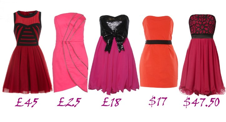 Shopping Time: Cheap Red and Pink Prom Dresses