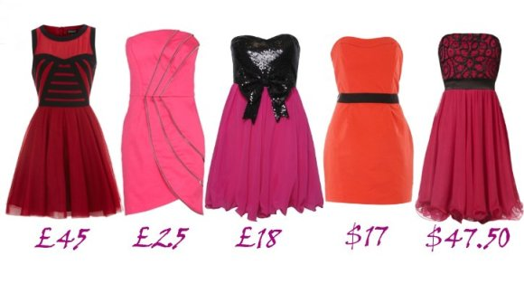 Shopping Time: Cheap Red and Pink Prom Dresses 1