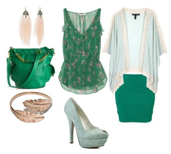 Themed Outfit: Minty Forest 1