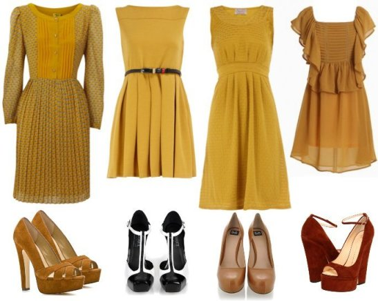 Shopping on a Budget: Retro Mustard Dresses Under $50 1