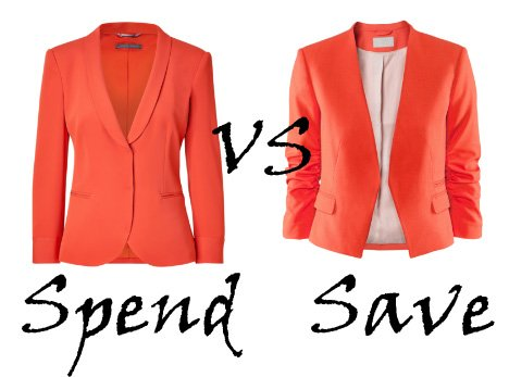 Spend VS Save: Orange Blazers