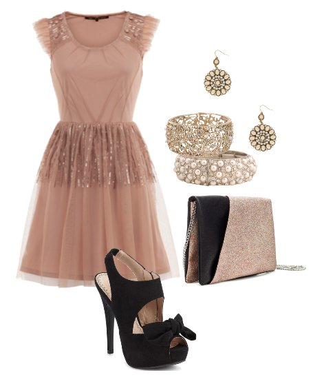Sparkly Chic: Dusty Pink Party Look for Less Than $100!