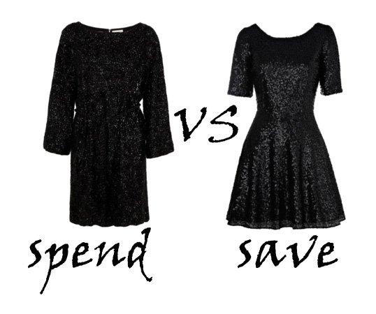 Spend VS Save: Sequin Black Dresses