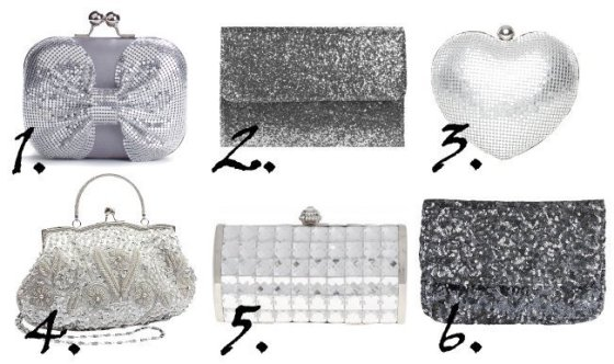 Shopping Time: Sparkly Silver Clutches Under $35 11