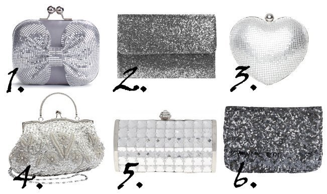 Shopping Time: Sparkly Silver Clutches Under $35