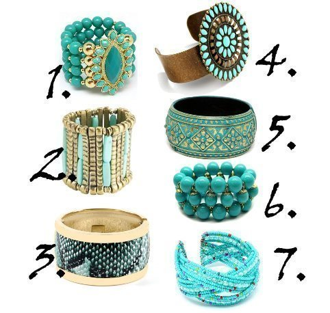 Shopping Time: Turquoise Bangles Under $20 14