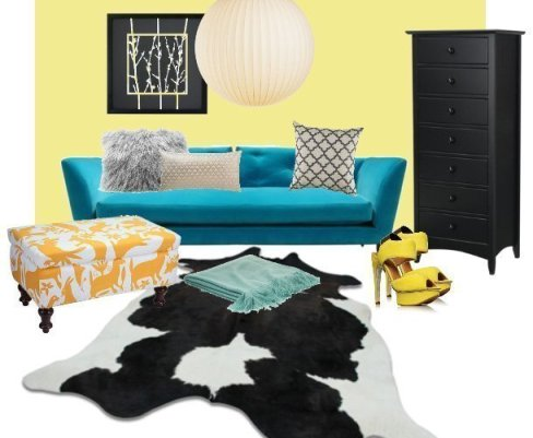 Decor Dare: Mix Turquoise, Yellow and Coal 3