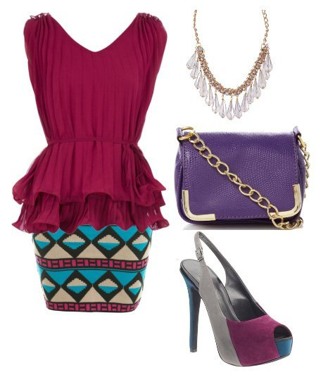 Themed Outfit Under $100: Tribal Berry  6