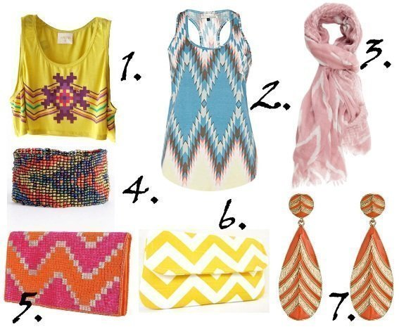 Zig Zag It Up! Colorful Chevron Picks From $10 to $43 1