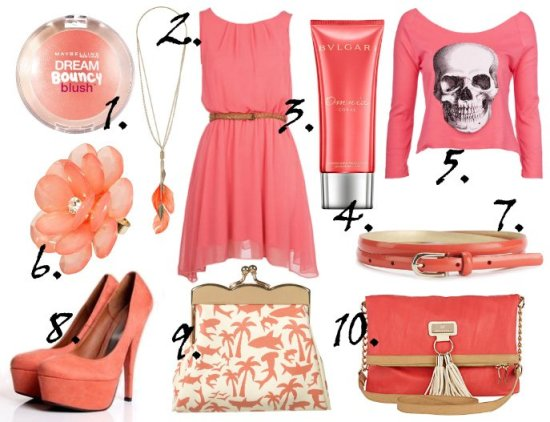 Color of the Week: Coral - 10 Finds Under $50! 1