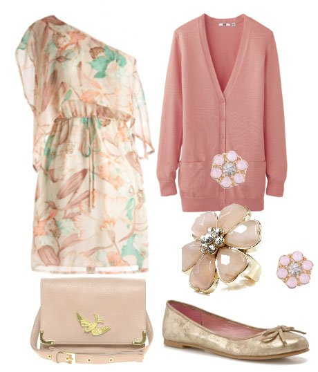 Pretty Pastels and Floral Grace - 6 Piece Look for $189 5