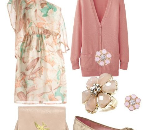 Pretty Pastels and Floral Grace - 6 Piece Look for $189 2