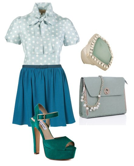 Daily Outfit: LadyLike Elegance in Minty Blues 1